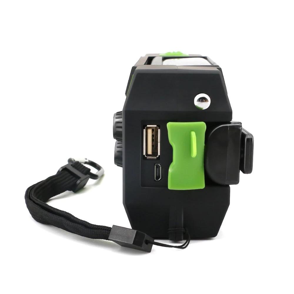 Solar Dynamo Radio Portable USB Charger Hand-cranked Flashlight 7