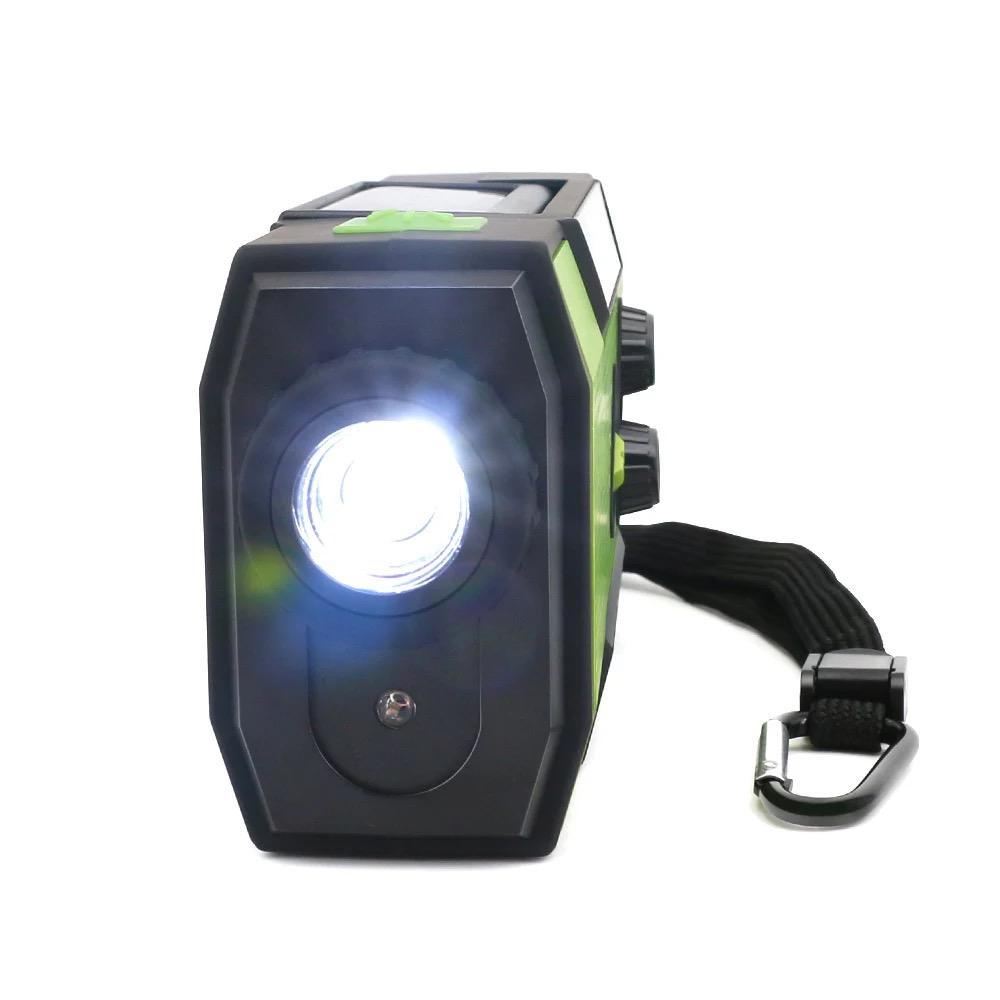 Solar Dynamo Radio Portable USB Charger Hand-cranked Flashlight 9