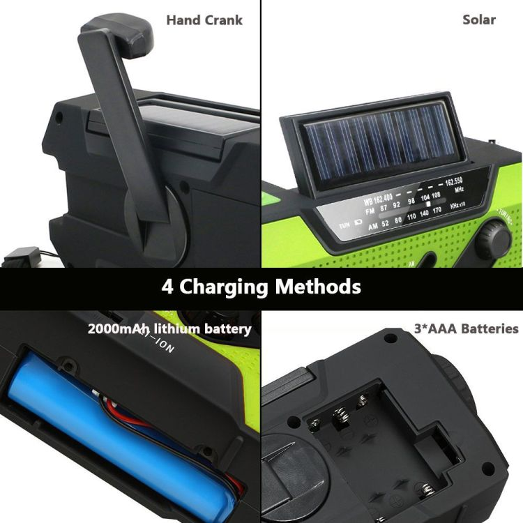 Solar Dynamo Radio Portable USB Charger Hand-cranked Flashlight 16