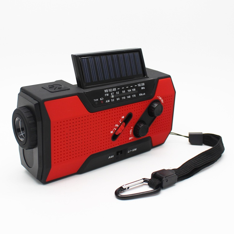 Solar Dynamo Radio Portable USB Charger Hand-cranked Flashlight 18