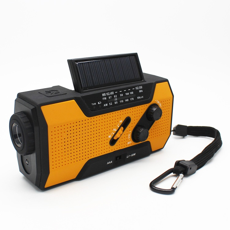 Solar Dynamo Radio Portable USB Charger Hand-cranked Flashlight 20