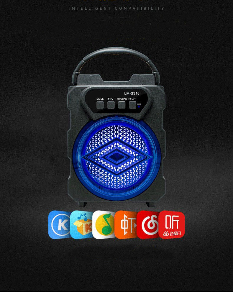 Portable Electroplated Bluetooth Speaker Mini Wireless Subwoofer Speaker 10