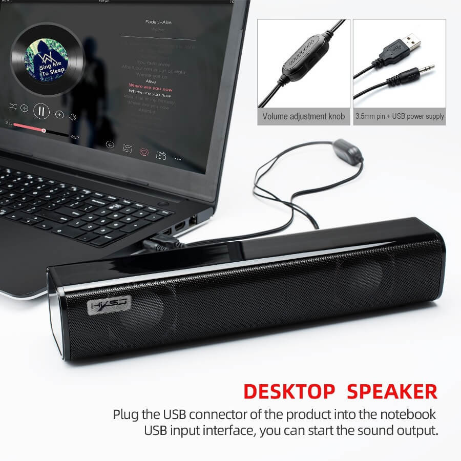 Strip audio Computer Speaker Bluetooth 5.0 Laptop Speaker 26