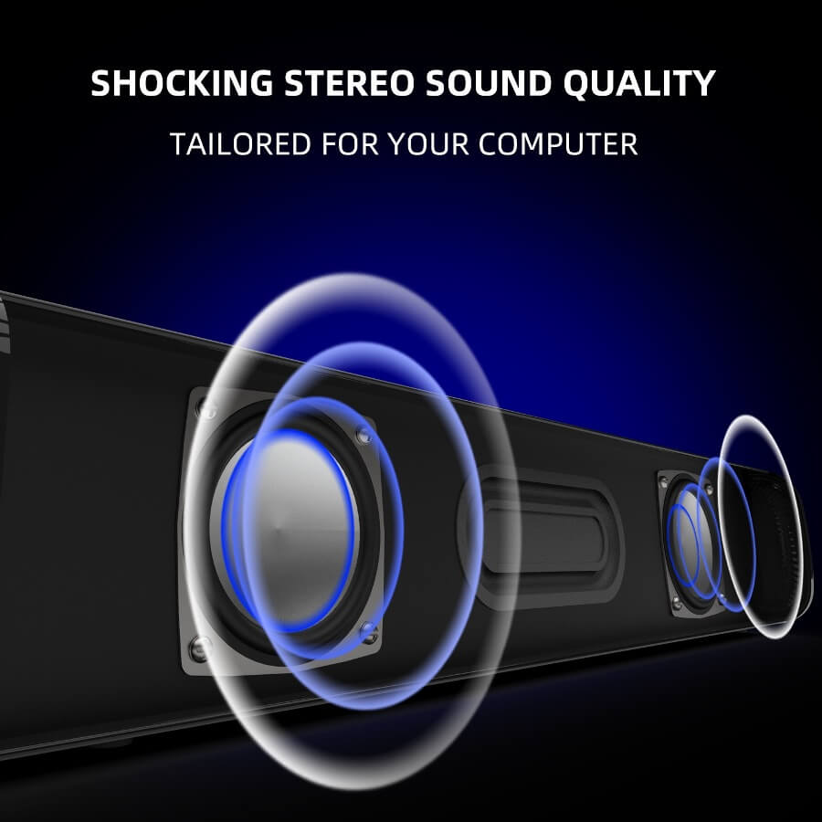Strip audio Computer Speaker Bluetooth 5.0 Laptop Speaker 12