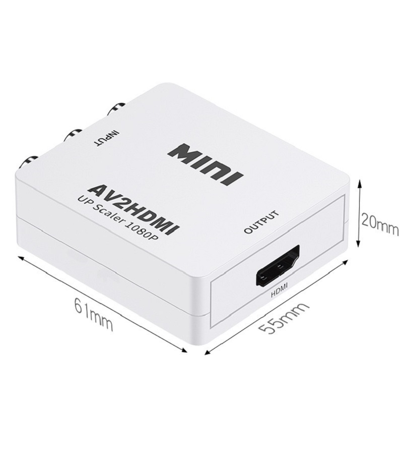 AV to HDMI Converter RCA to HDMI Adapter 24