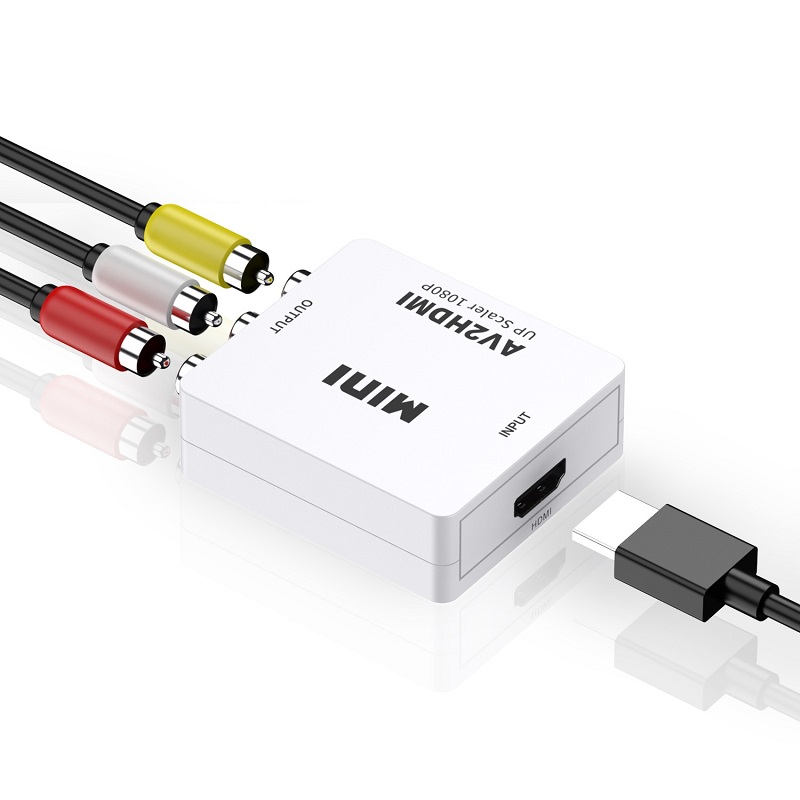 AV to HDMI Converter RCA to HDMI Adapter 12