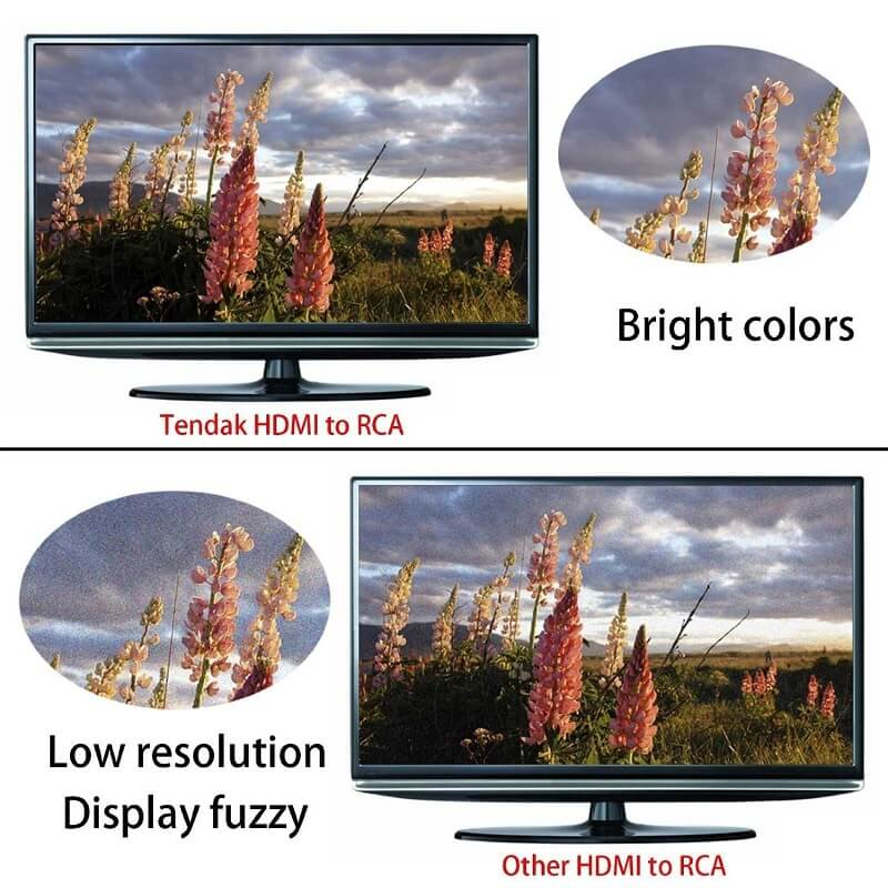 Mini Size 1080p HDMI to AV Converter HDMI to RCA Video Audio Adapter 22