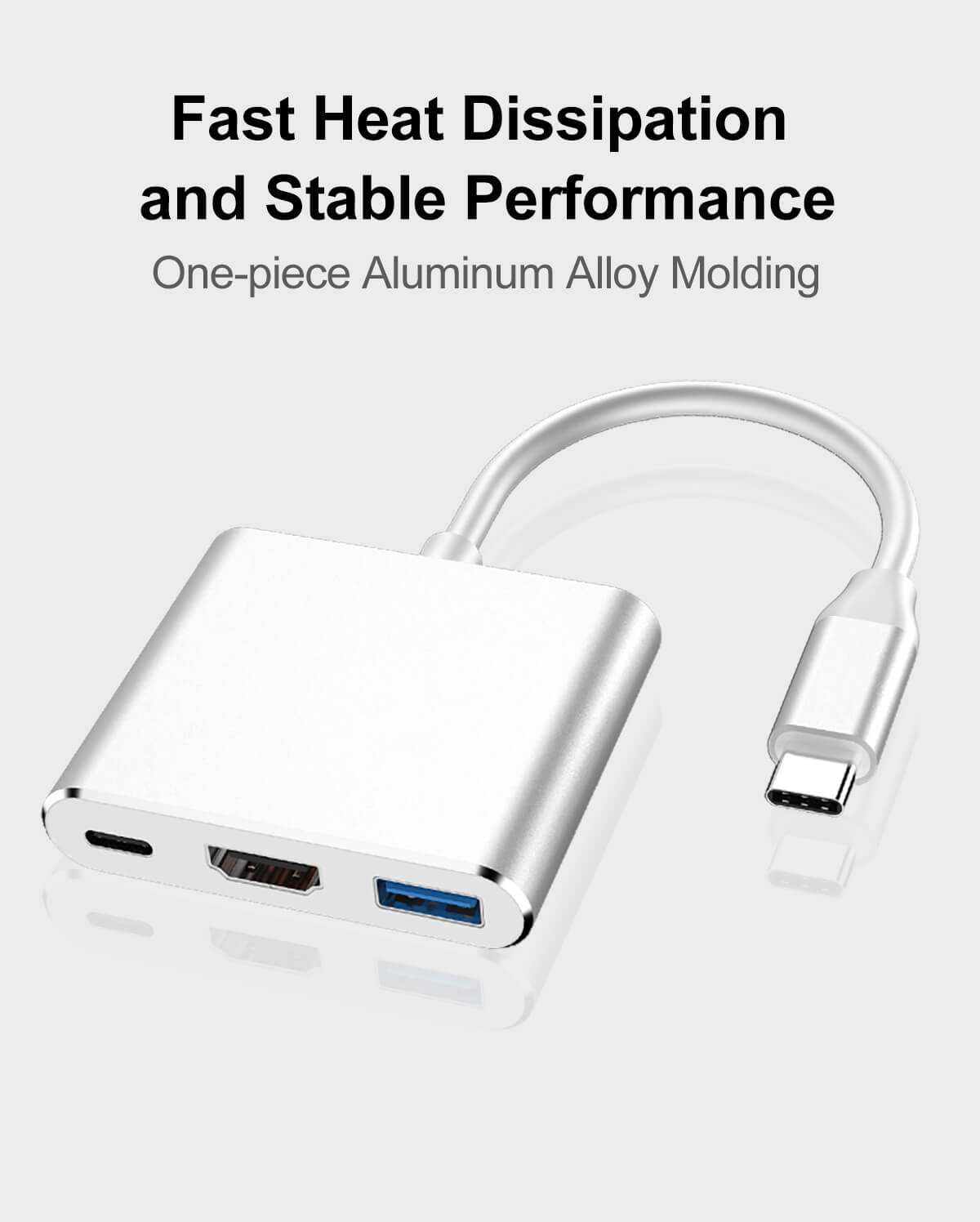 Hot selling Type-C to HDMI 3 in 1 Adapter USB-C to HDMI+PD+USB3.0 Multiport Adapter 36