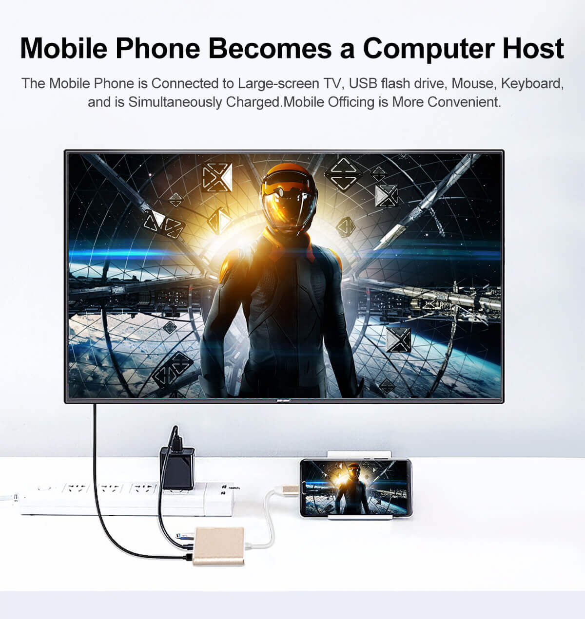Hot selling Type-C to HDMI 3 in 1 Adapter USB-C to HDMI+PD+USB3.0 Multiport Adapter 28