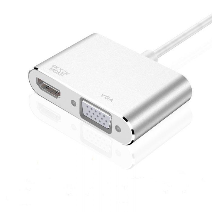 High Quality USB 3.1 Type-C to HDMI VGA USB-C to HDMI VGA Adapter 2