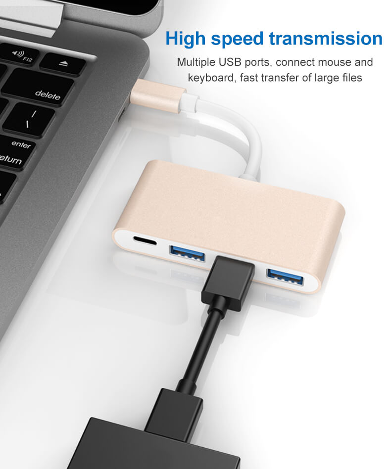 USB Type C to USB3.0 Hub Adapter 18