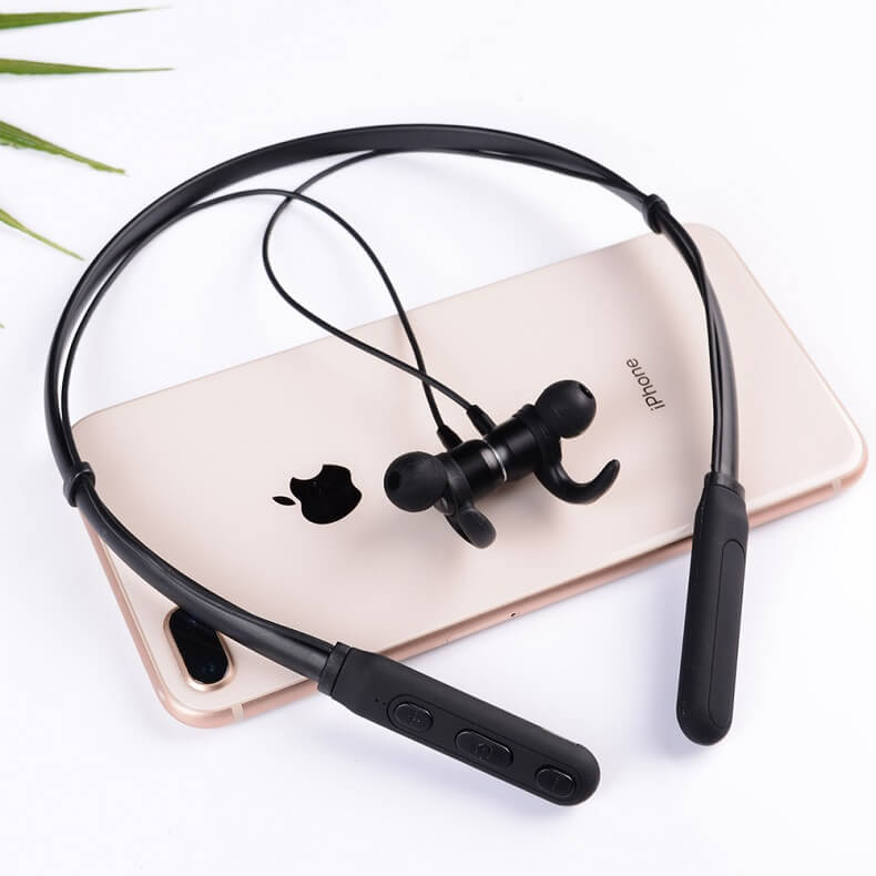 New Trending Wireless Bluetooth Earphones H01 IPX4 Waterproof Sport Earbuds with Magnetic Connection 26