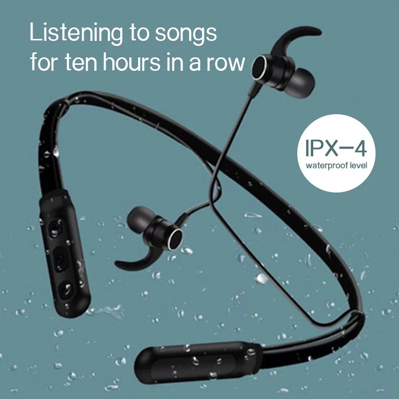 New Trending Wireless Bluetooth Earphones H01 IPX4 Waterproof Sport Earbuds with Magnetic Connection 5