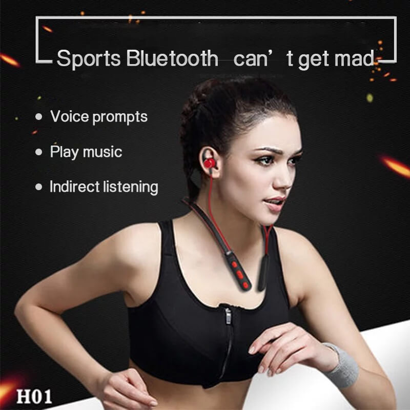 New Trending Wireless Bluetooth Earphones H01 IPX4 Waterproof Sport Earbuds with Magnetic Connection 7