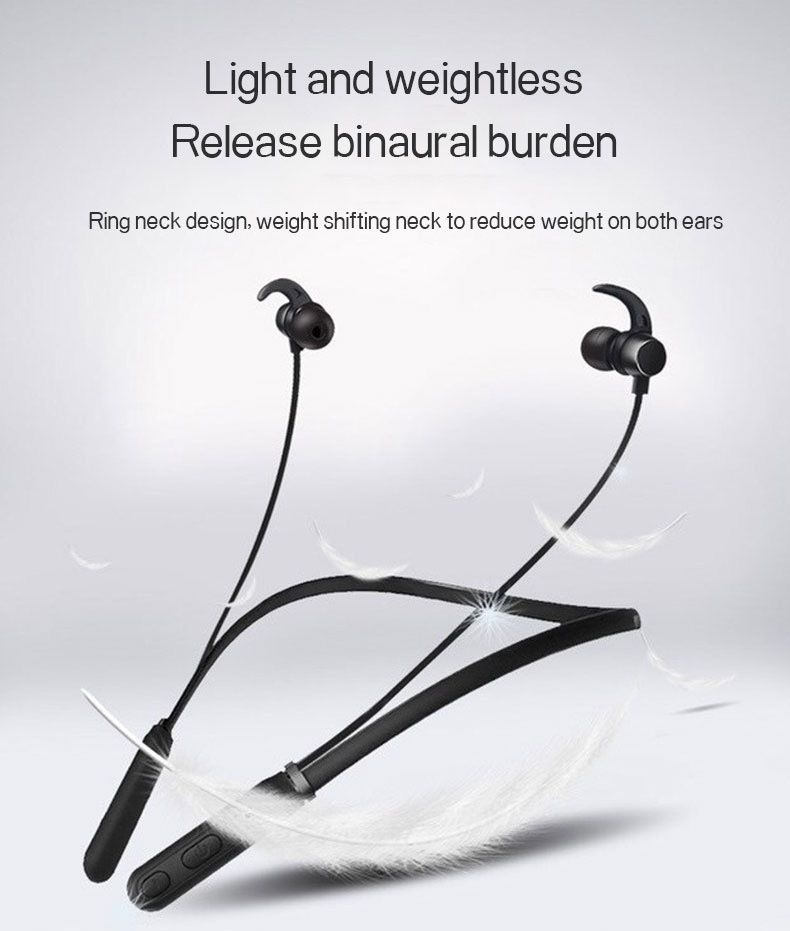 New Trending Wireless Bluetooth Earphones H01 IPX4 Waterproof Sport Earbuds with Magnetic Connection 18