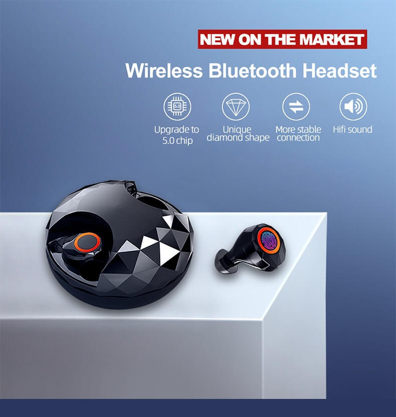 2020 New TWS Earbuds In-ear Bluetooth Headphone Stereo Sport Headset 12