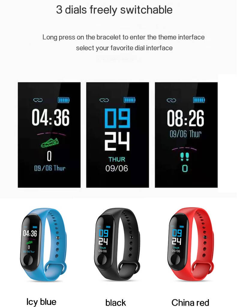 Low Price Cheap Smart Bracelet Sport Wristband Heart Rate Monitor 34