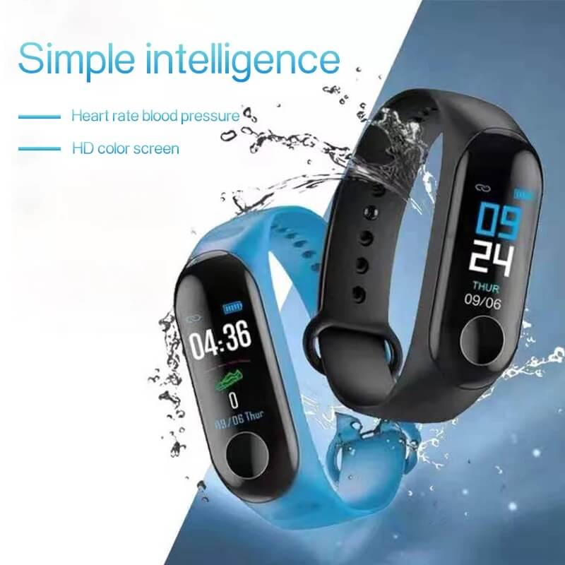 Low Price Cheap Smart Bracelet Sport Wristband Heart Rate Monitor 3