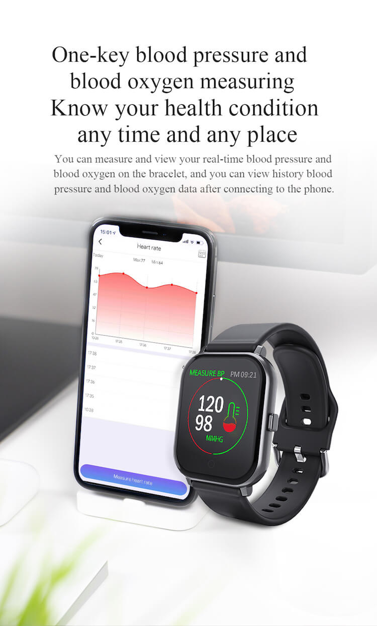New Fitness Product 2020 T55 Smart Watch Sports Wristband Heart Rate Blood Pressure Waterproof Pedometer 22