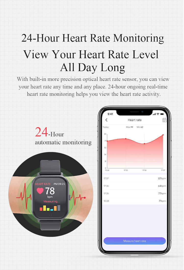New Fitness Product 2020 T55 Smart Watch Sports Wristband Heart Rate Blood Pressure Waterproof Pedometer 28