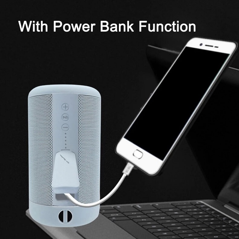 Super Bass IPX5 Waterproof Wireless Speaker Outdoor Power Bank Stereo Portable Bluetooth Speaker 12