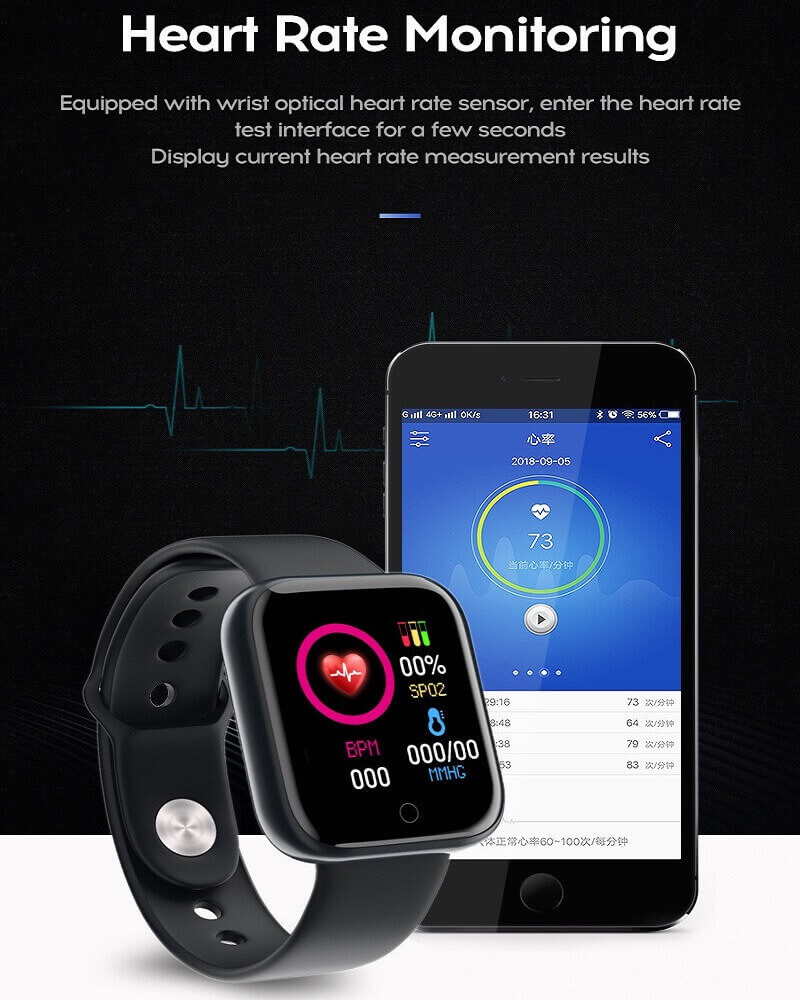 Y68 Smart Watch Sports Bluetooth Watch Cheap Promotional Gift 28
