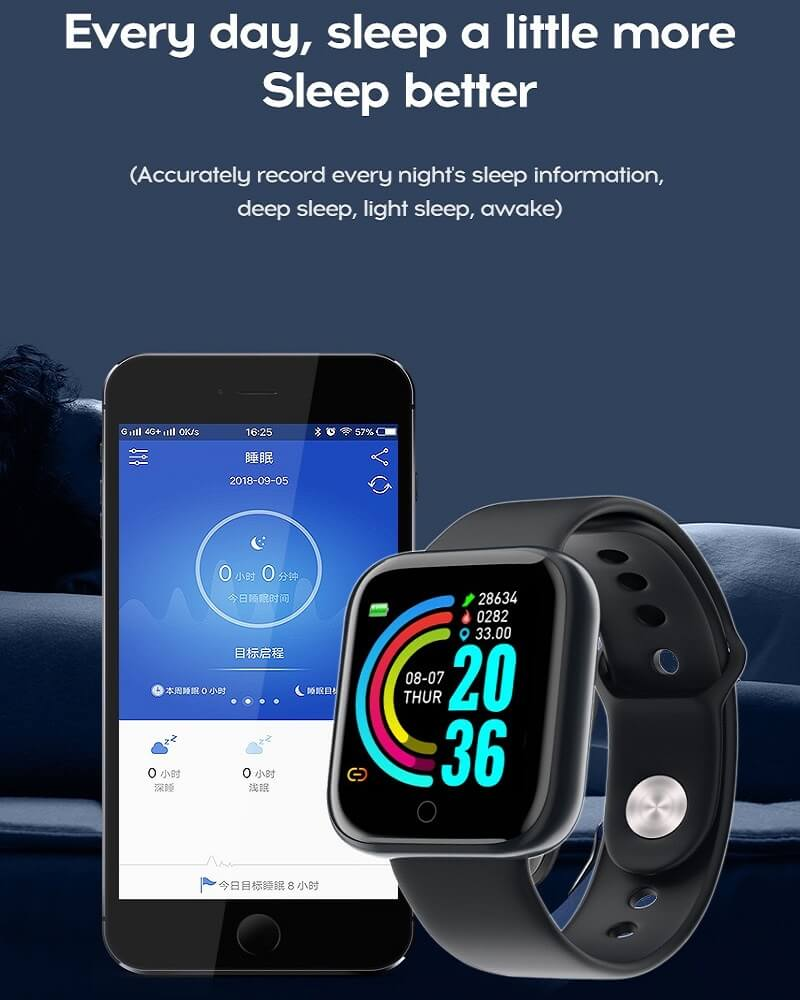 Y68 Smart Watch Sports Bluetooth Watch Cheap Promotional Gift 34