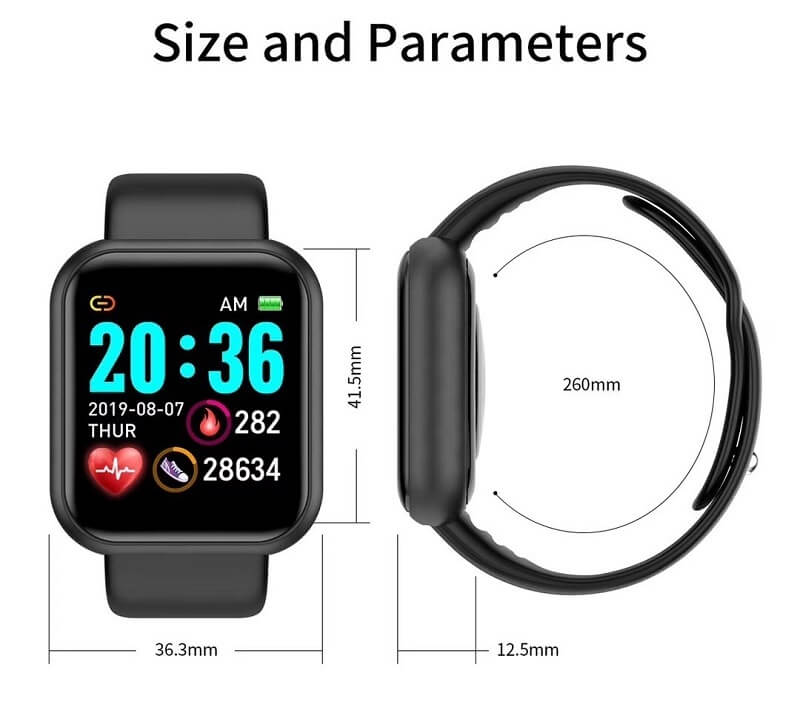 Y68 Smart Watch Sports Bluetooth Watch Cheap Promotional Gift 42