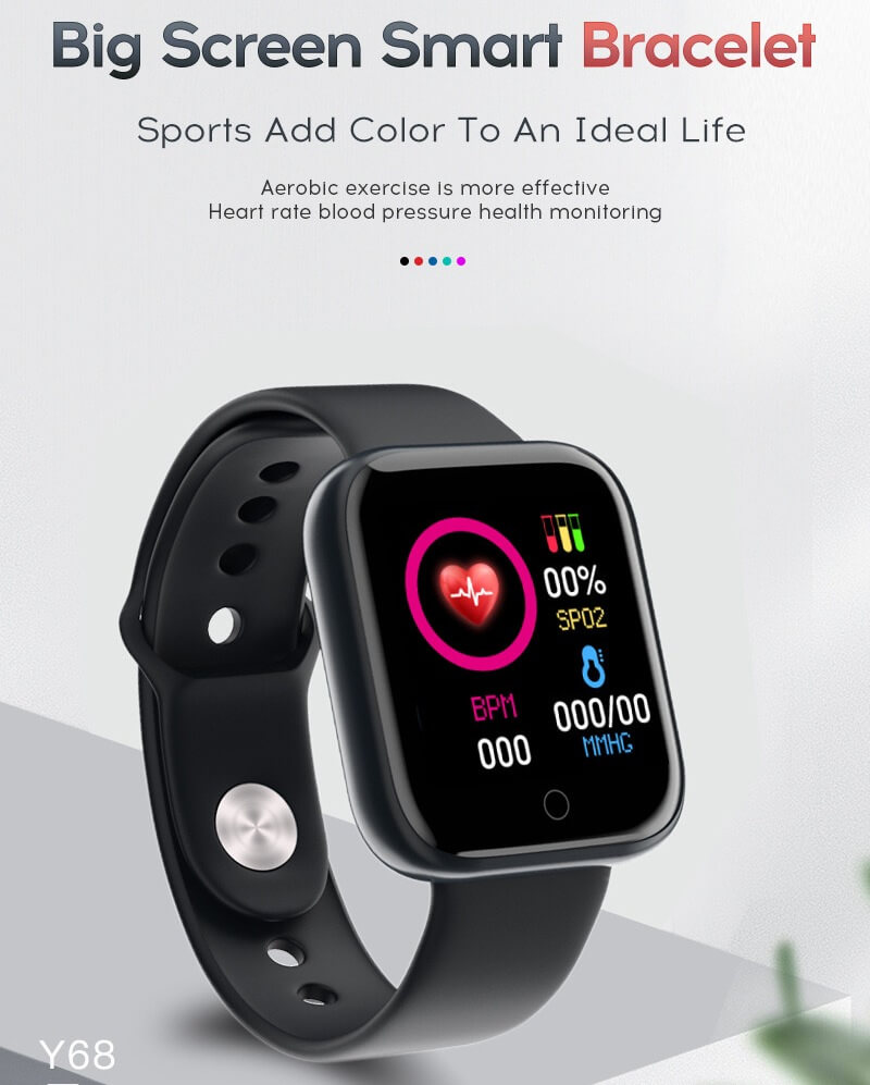 Y68 Smart Watch Sports Bluetooth Watch Cheap Promotional Gift 12