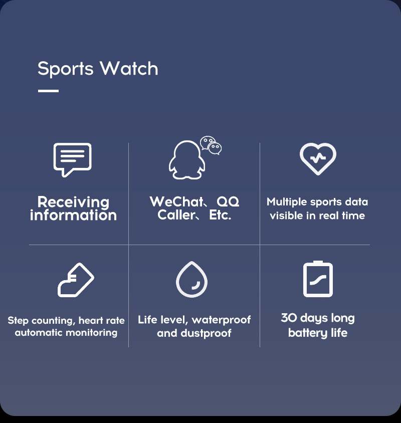 Y68 Smart Watch Sports Bluetooth Watch Cheap Promotional Gift 16