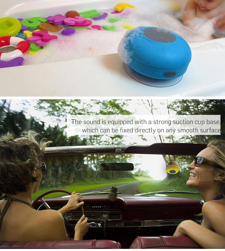 BTS06 IPX4 waterproof sucker Bluetooth speaker mobile phone wireless mini speaker 20