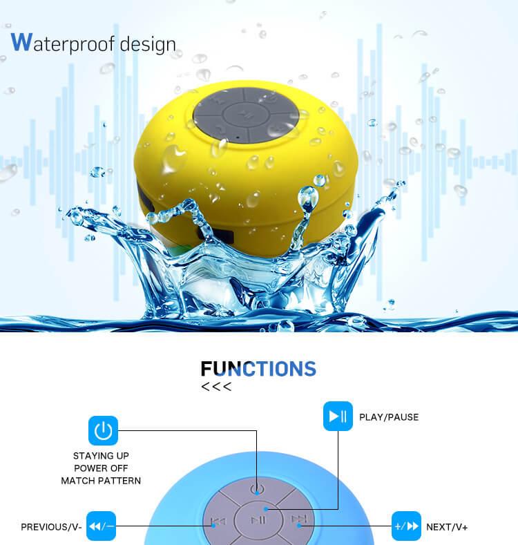 BTS06 IPX4 waterproof sucker Bluetooth speaker mobile phone wireless mini speaker 16