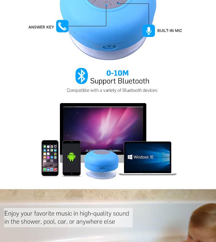 BTS06 IPX4 waterproof sucker Bluetooth speaker mobile phone wireless mini speaker 18