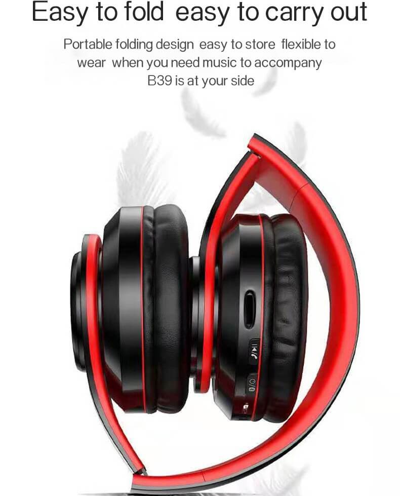 2020 Cheaper Sports Stereo Wireless Headset Foldable Wired Earphones 18