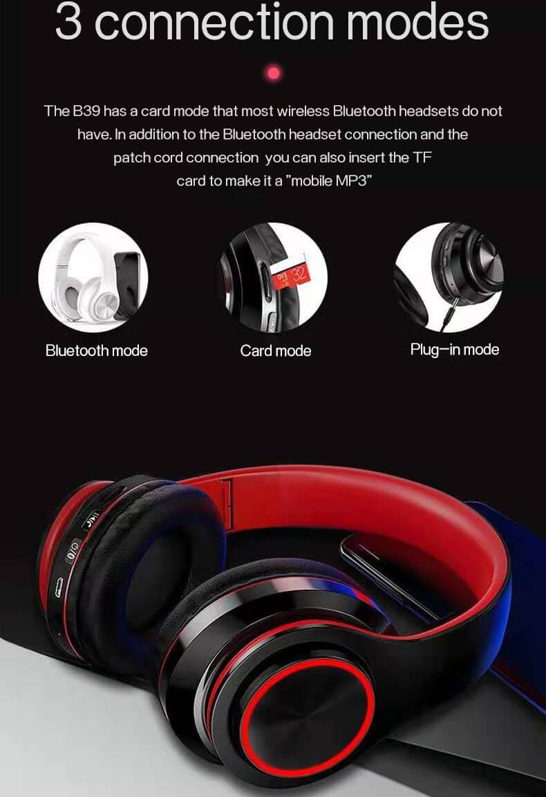 2020 Cheaper Sports Stereo Wireless Headset Foldable Wired Earphones 20