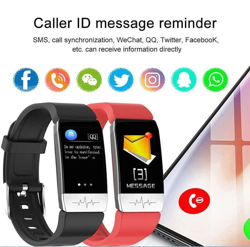 T1 Smart Band with Thermometer ECG Temperature Smartwatch 24