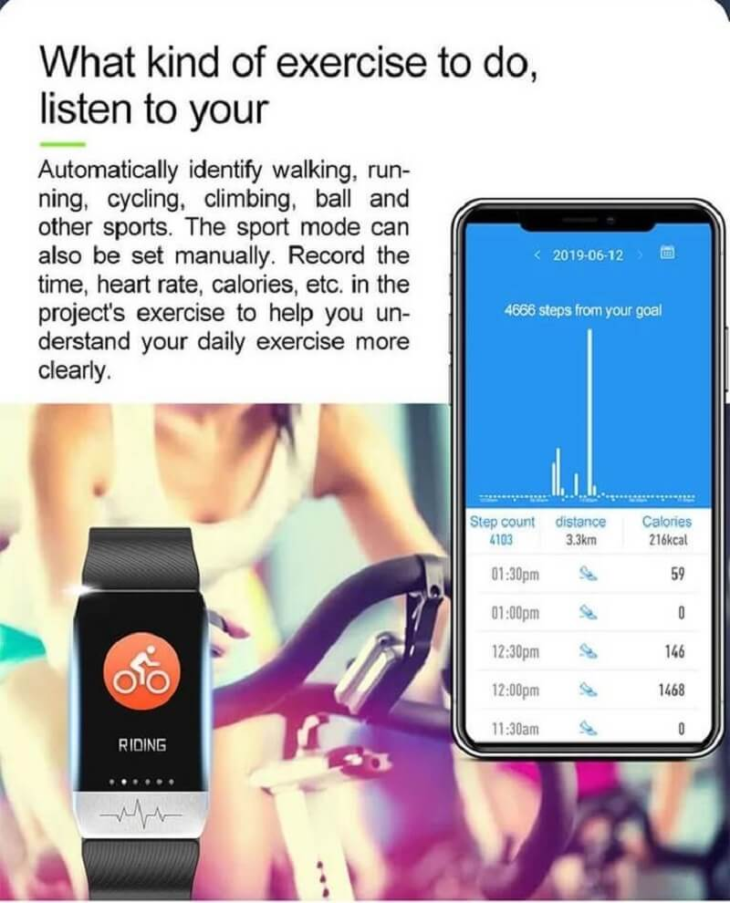 T1 Smart Band with Thermometer ECG Temperature Smartwatch 34