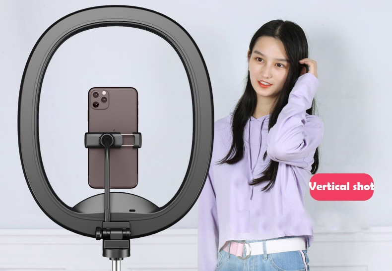 Hot Selling WS8 phone holder with Ring light Built-in battery Foldable Selfie for Youtube Video Live Streaming 26