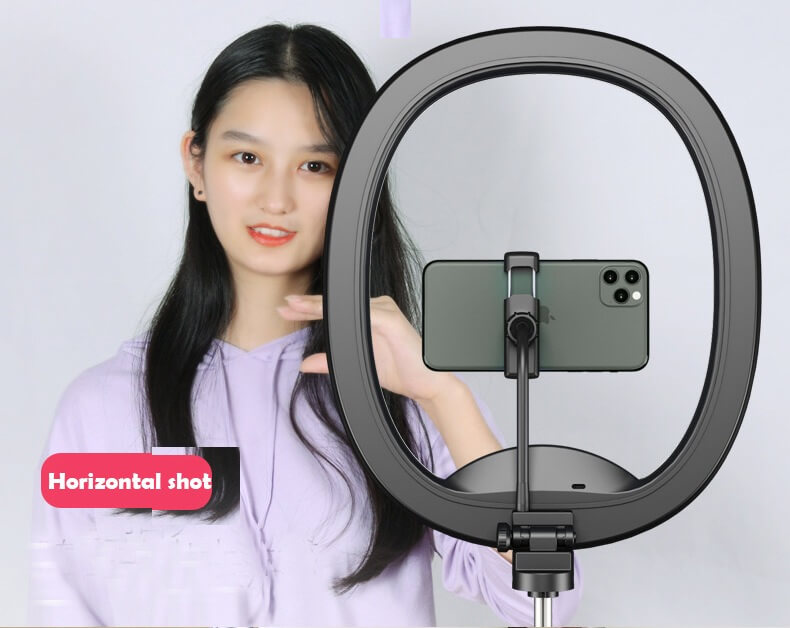Hot Selling WS8 phone holder with Ring light Built-in battery Foldable Selfie for Youtube Video Live Streaming 28