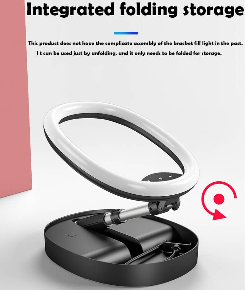 Hot Selling WS8 phone holder with Ring light Built-in battery Foldable Selfie for Youtube Video Live Streaming 42