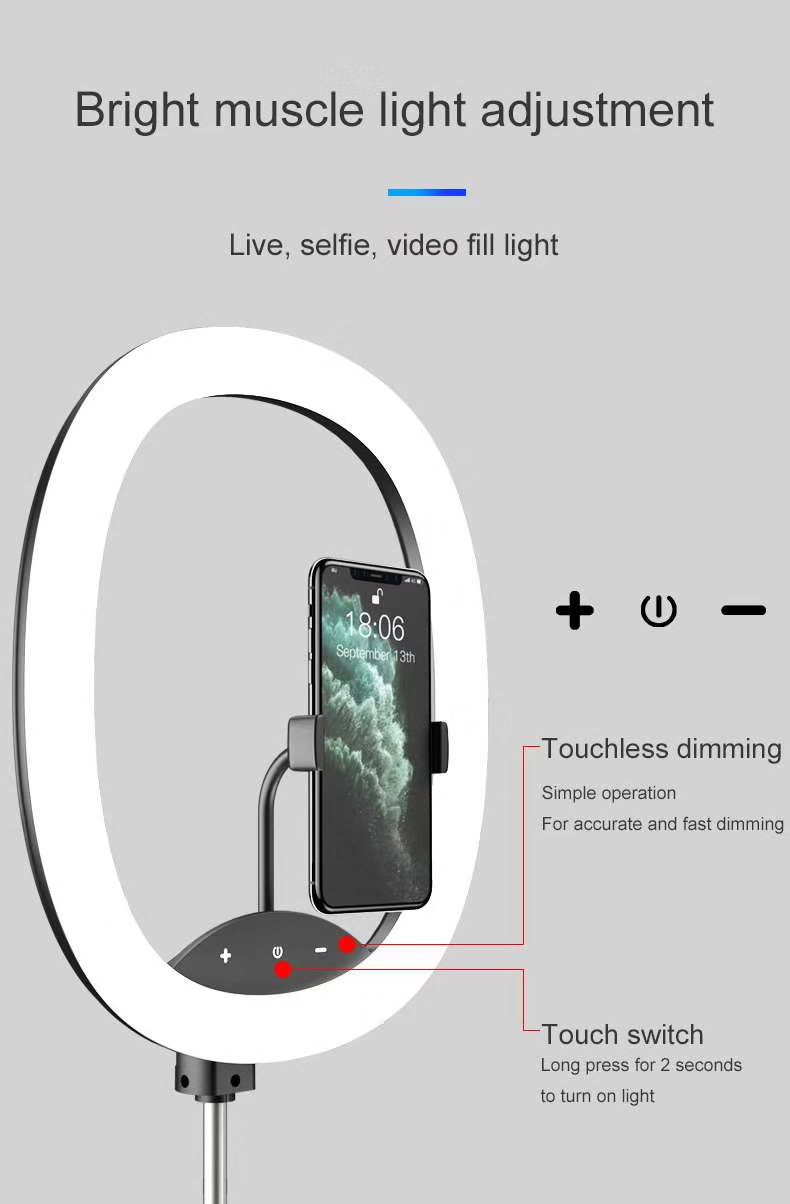 Hot Selling WS8 phone holder with Ring light Built-in battery Foldable Selfie for Youtube Video Live Streaming 46