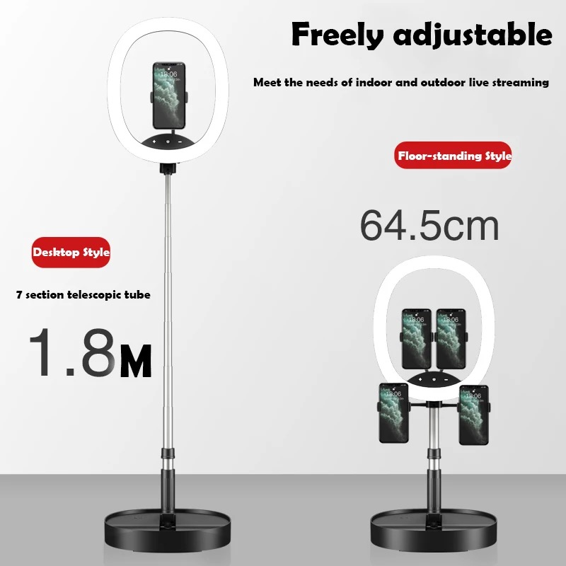 Hot Selling WS8 phone holder with Ring light Built-in battery Foldable Selfie for Youtube Video Live Streaming 8