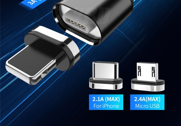 2020 New Hot Selling 3A Magnetic 3 in 1 Charging Cable Type-C Android IOS USB Data Cable 28