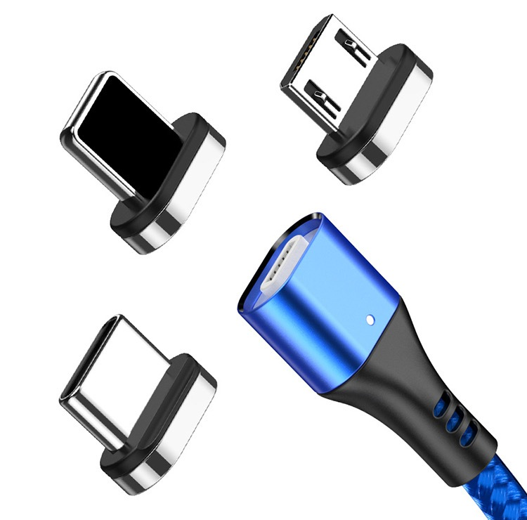 2020 New Hot Selling 3A Magnetic 3 in 1 Charging Cable Type-C Android IOS USB Data Cable 40