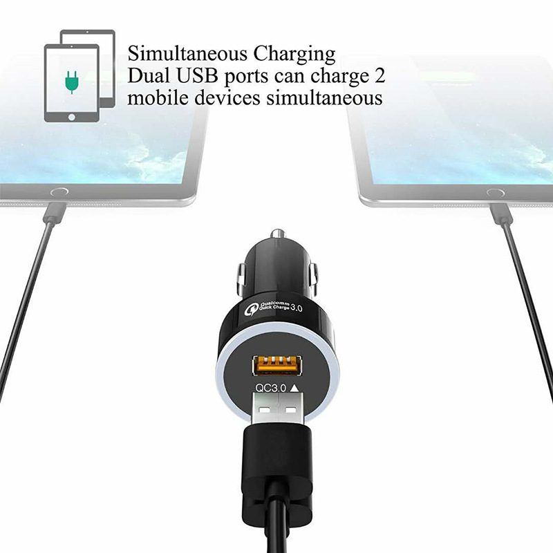 Hot Selling Dual USB Quick Charger QC3.0 Car charger 18